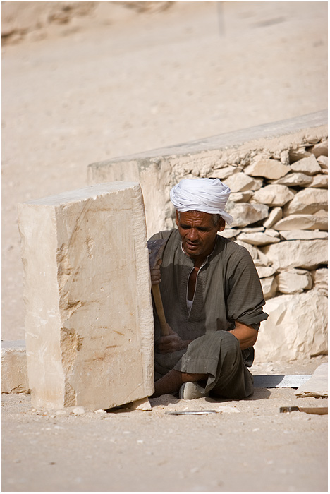 Egypt - Luxor- The Valley of the Kings - Stonecutter